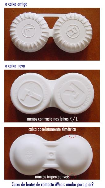 Caixa de lentes de contacto iWear: mudar para pior?