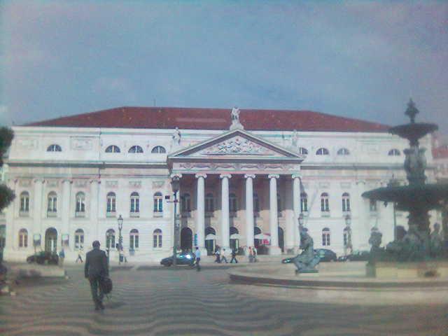 TNDMII, vista do Rossio (fotografia de telemóvel)